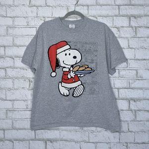 Vtg Snoopy Christmas Holiday Tshirt Xmas Large